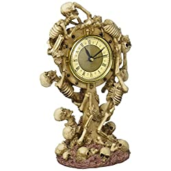 Design Toscano Skeleton Crew Sculptural Mantle Clock, Full Color