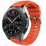 TiMOVO Correa de Reloj Compatible con Samsung Gear S3 Frontier/Galaxy Watch 3 45mm, Banda de Silicona Compatible con Huawei Watch GT2 Pro/GT 2e/GT 46mm/GT2 46mm/Ticwatch Pro 3 - Naranja