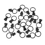 20 piezas de metal de aleación universal con cremallera deslizadores tamaño Set anillo cabeza tirador # 5 Circle anillo cierre de cremallera Kit de reparación de repuesto (negro SND blanco) negro