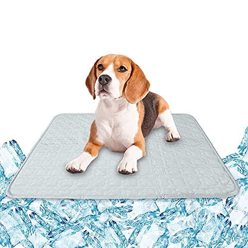Esterilla de refrigeración para perros, gatos, mascotas (gris + L)