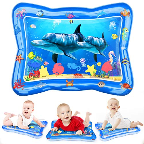 Joyjoz Tummy Time Baby Water Mat, Infant Toy Inflatable Play Mat, Fun...