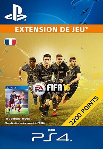 2 200 Points FIFA 16 [Extension De Jeu] [Code Jeu PSN PS4 - Compte français]