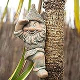garden mile® Varias novedades de jardín de animales mirador de árbol novedad adornos de jardín árbol de jardín decoración de jardín esculturas de jardín decoración del hogar