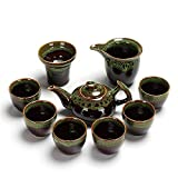 Tea Sets For Afternoon Tea With Teapot, Portable Travel Kungfu Tea Set Handmadevintage Porcelain White Porcelain Teapot With 6 Cups Set