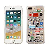 iPhone 8 Plus 7 Plus 6S Plus Dual Slim Case CASEVEREST 3D Print Cover iPhone 8 Plus Friends TV Show Icons Characters Quotes Clear