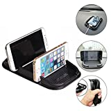 Cell Phone Holder for Car, Car Silicone Pad Dash Mat & Cell Phone Mount Holder Cradle Dock For Any Smartphone iPhoneX,XR,XS,11,11 Pro,Xs Max,8,8 Plus,7 Plus,7S,6 Plus,6S,iPad &GPS Table Holder (2PACK)