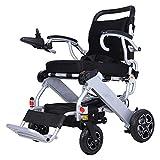 RSDPJ Smart discapacitado Silla de Ruedas eléctrica Plegable Ultra Ligero de aleación de Aluminio portátil de Cuatro Ruedas Scooter de Hombre Viejo