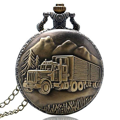 MOLUO Creatividad Reloj de Bolsillo del árbol Forestal Big Truck Retro del...