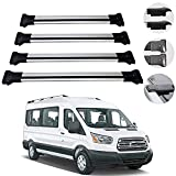 Roof Rack Cross Bars Lockable Luggage Carrier Fits Ford Transit...