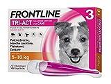 Frontline TriAct, Antipulci per cani, Antiparassitario Lunga durata, Protegge il cane da pulci, zecche, zanzare, pappataci e dal rischio di trasmissione di Leishmaniosi, 3 Pipette, Cane S (5 -10 Kg)