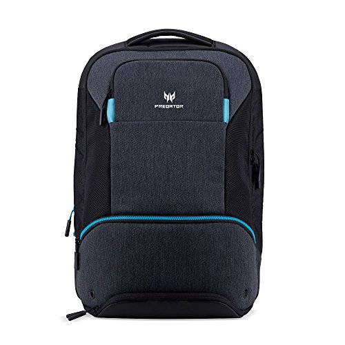 "Acer Predator Hybrid - Mochila para portátiles y notebooks (Poliéster, Monótono, Unisex, 15.6"", Cremallera), Negro y azul"