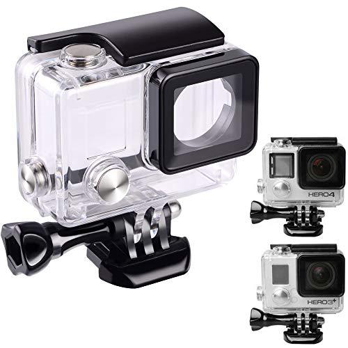 Carcasa protectora impermeable para GoPro Hero 4 Hero 3+ Hero 3 Cámara para uso subacuático resistente al agua hasta 45 m