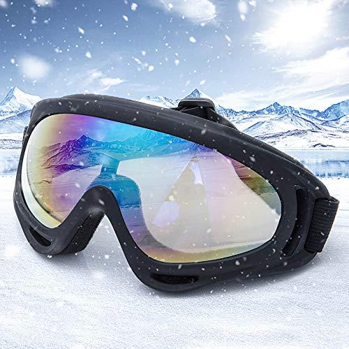 Comius Sharp Skibrille, Ski Snowboard Brille, UV-Schutz Goggle, Motocross Brille Helmkompatible, Anti-Fog Skibrille, Sportbrille für Skifahren Motorrad Fahrrad Skaten, Unisex