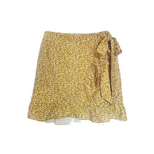 N\P Mujer Faldas Harajuku Traje con Falda Corta Cintura Alta Irregular