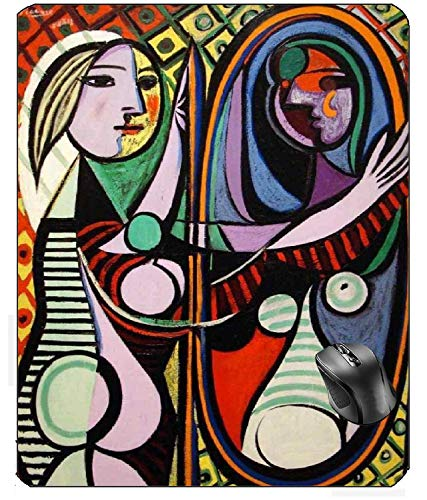 AVENTN Picasso Mirror Girl Paint On Mouse pad 8.7' x 7.08' inch