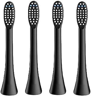 (正規品)InfinitusValue スマートトラッキング電動歯ブラシ専用替えブラシ レギュラーサイズ 4本組 ブラック IVHB01BBR4