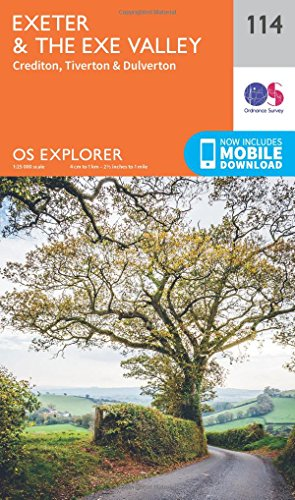 OS Explorer Map (114) Exeter and the Exe Valley