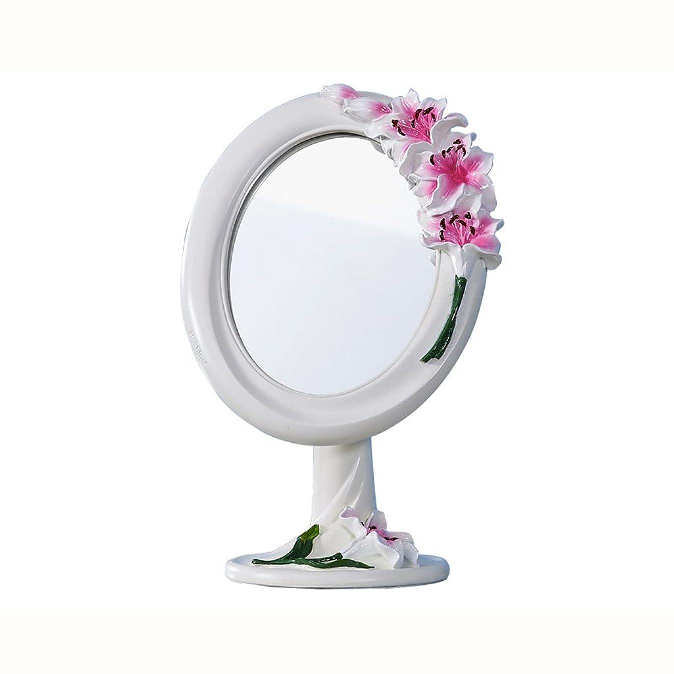 蒸留北方圧倒するYBJPshop 化粧鏡 片面化粧鏡、樹脂製化粧鏡、ポータブルラブリープリンセスミラー - 18.5x10.7x29cm 美容鏡化粧室バスルーム (Color : Pink)
