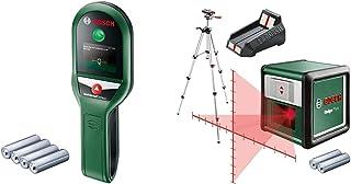 Bosch Stud Finder UniversalDetect & 603663600 Laser Level Quigo Plus with Tripod (3rd Generation, Range: 10 m, In Cardboar...