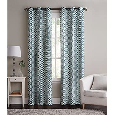 GoodGram 2-Pack: Alexander Energy Saving Hotel Quality Grommet Curtains - Assorted Colors (Blue/Teal)