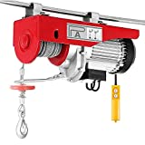 Happybuy 2200 LBS Lift Electric Hoist 110V Electric Hoist Overhead Crane Lift Electric Winch Remote Control