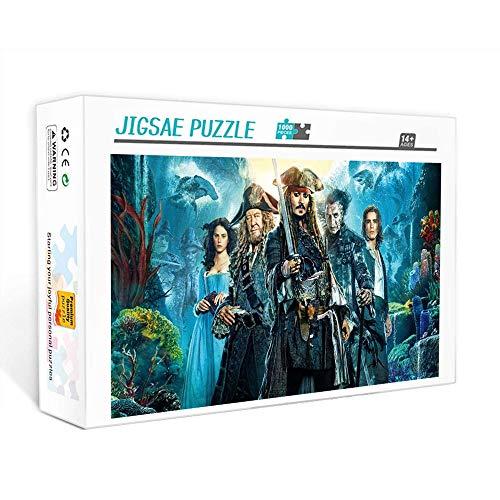 Puzzle de 1000 piezas para adultos Piratas del Caribe: cartel de programa de televisión Puzzles Brain Challenge Puzzle para niños   Puzle imposible 75x50cm