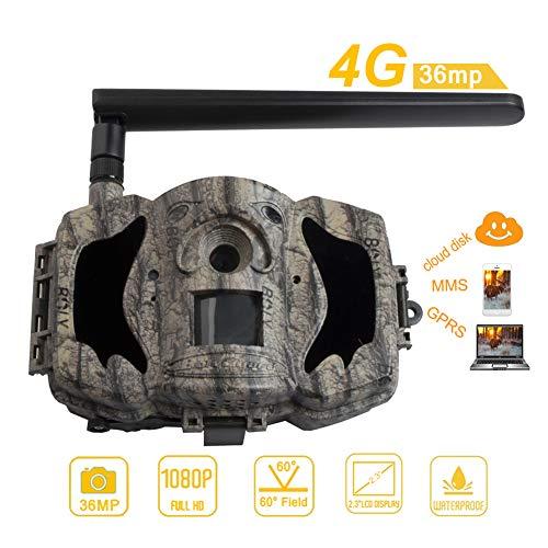BolyGuard 4G Cellular Wildkamera mit Bewegungsmelder 36MP 1080P mit Nachtsicht-Bewegung Aktiviert 2.3