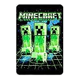Bioworld Digital Print Minecraft Creepers Throw Blanket
