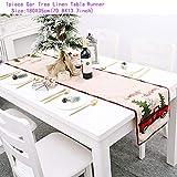 AISHIRUI Dekoartikel Leinen Elch Schneemann Tischläufer Frohe Weihnachten Dekoration Für Familie Weihnachtsdekorationen-Table Runner-43