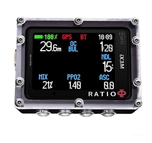 Ratio ix3 m Deep – Ordinateur de plongée de l'émetteur pour résistant Norme oxic trimix – ix033
