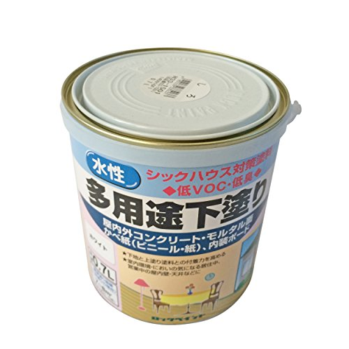 ロックペイント 水性シーラー 多用途下塗り ホワイト 0.7L H33-1501-03
