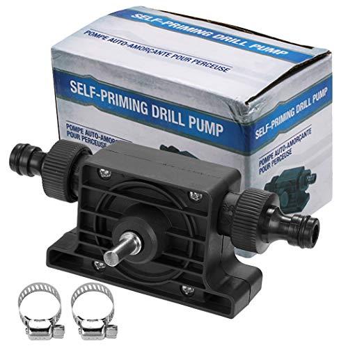 FunPa Drill Pump Portable Self Priming Water Pump Transfer Pump Oil Pump for Electric Drill