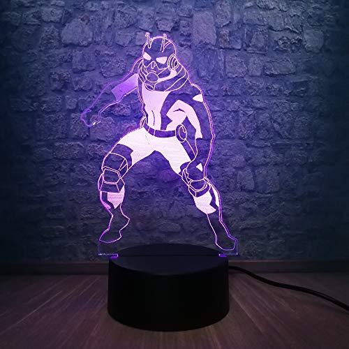 Nuanchen Light 3D Veilleuse , Cool 3D Lampe Multicolore Led Gradient Veilleuse Cool Boy Room Decor Kid Jouet Cadeau