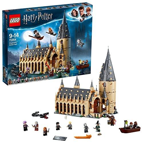 LEGO 75954 Harry Potter Gran Comedor de Hogwarts Juguete de Construcción con Torre de 4 Plantas, una Bote y 10 Mini Figuras