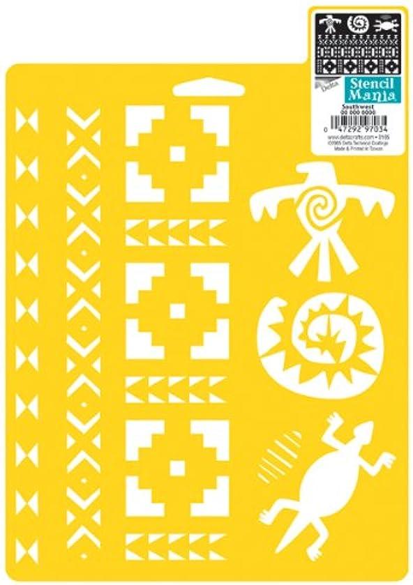 Delta Creative Stencil Mania Stencil, 7 by 10-Inch, 970760710 Southwest