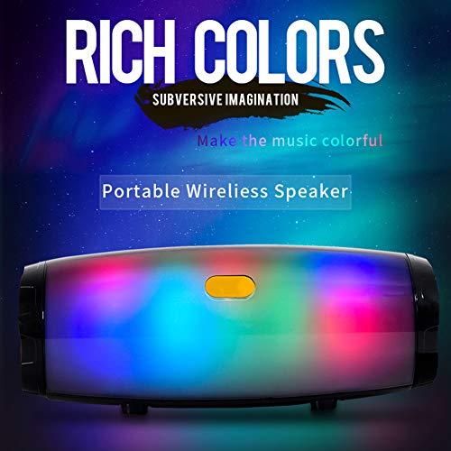 Haut-Parleur Bluetooth LED, Haut-Parleur Extérieur Portatif, Mini Colonne sans Fil, Boîte De Basse De Soutien Surround De Musique Stéréo 3D 10W