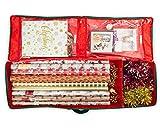 DSL - Bolsa de almacenamiento grande para envolver y decorar, con bolsillos interiores compactos, para envolver regalos, etiquetas, cintas, tarjetas, lazos