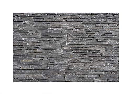 1 Muster W-008 Schiefer Wanddesign Wandverblender Steinwand Wandverkleidung Naturstein-Fliesen Lager Verkauf Stein-Mosaik Herne NRW