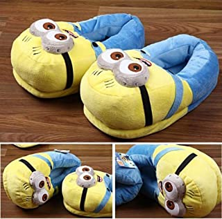 CARE CASE Girl's Blue Despicable Me 2 Minion Plus Slippers- Medium