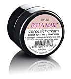 Bella Mari Natural Concealer Cream, Medium Rose; 0.5floz Glass