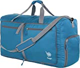 Bago 60L Packable Duffle bag for women & men - 23' Foldable Travel Duffel bag (Blue)