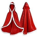 Proumhang Disfraz de Princesa Capa de Princesa para Niñas Disfraces para Halloween Trajes de Navidad Rojo 120 para 4-5 años