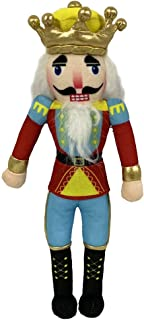 Nutcracker Ballet Gifts Plush Nutcracker King Doll- Christmas Nutcracker Ballet Doll with Red & Blue Uniform Jacket & Yellow Accents, Classy Black Boots, and Golden Crown Inspired by the Nutcracker Ba
