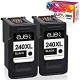 ejet Remanufactured Ink Cartridge Replacement for Canon PG-240XL 240 XL 5206B001 for Pixma MG3620 TS5120 MG2120 MG3520 MX452 MX512 MX532 MX472 MG3120 MG3122 MG4120 High Yield (2 Black)