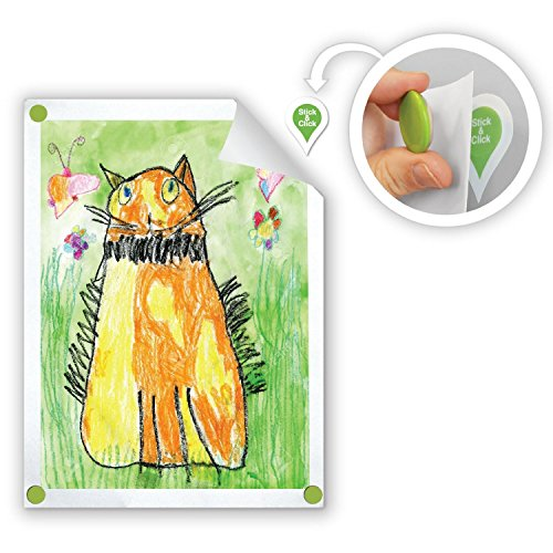GoodHangups for Kids Art Damage Free Magnetic Hangers Reusable Works on Any Wall As Seen On Shark Tank 8 Pack