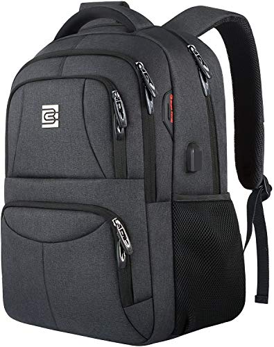 Laptop Backpack,Durable Anti Theft Business Travel Laptops Backpack for Men Women with USB Charging Port,Water Resistant College School Computer Bookbag for Students Fit 15.6 Inch Laptops Notebooks