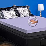 Deco Home 3 Inch Queen Memory Foam Mattress Topper with Relaxing Infused Lavender Scent, Extra Soft, Ventilated Air Flow for Comfortable Sleeping, Reduces Pressure Points, More Restful Sleep