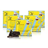 Tableta de Chocolate Negro 66% Cacao, con ralladura de limón de Sorrento - 50 gr (Paquete de 5...