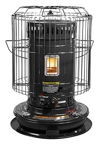 Sengoku KeroHeat CV23K(H) 23,500-BTU Indoor/Outdoor Portable Convection Kerosene Heater, Black
