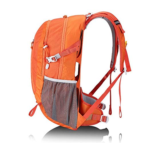 ZhiTianGroup Outdoor Mountaineering Backpack 30L Large Capacity Backpack Camping Travel Bag Outdoor Shoulder Bag (Color : Orange, Size : A)